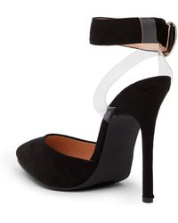 In Touch Footwear - Milano Glitter Floating Ankle Strap Pump - Lyst