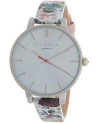 Ted Baker - Women's Butterfly Print Leather Strap Watch, 38mm - Lyst