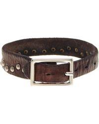 Tommy Bahama - Wide Rivet Leather Bracelet - Lyst
