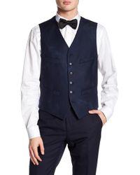 John Varvatos - Slim Fit Buttoned Wool Vest - Lyst