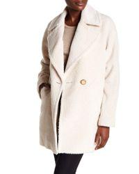Trina Turk - Nancy Double Breasted Wool Blend Coat - Lyst