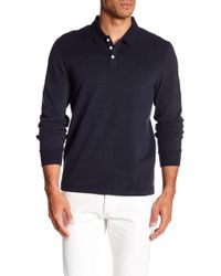 Original Penguin - Long Sleeve Sueded Pieced Polo - Lyst