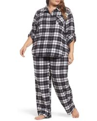 Make + Model - Flannel Pyjamas (plus Size) - Lyst