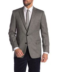 Brooks Brothers - Black Herringbone Two Button Notch Lapel Wool Regent Fit Blazer - Lyst