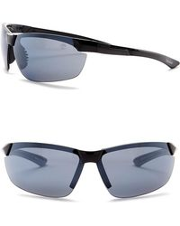 Timberland Men's 74mm Polarized Wrap Sunglasses