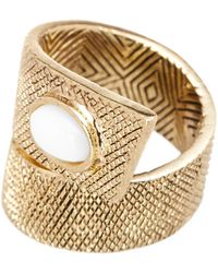 House of Harlow 1960 | Tanta Crosshatch Stone Ring - Size 6 | Lyst