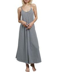 Volcom - Lil Stripe Maxi Dress - Lyst