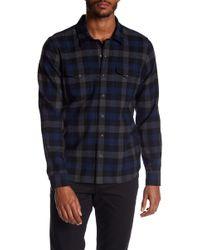 Vince - Check Plaid Wool Blend Shirt - Lyst