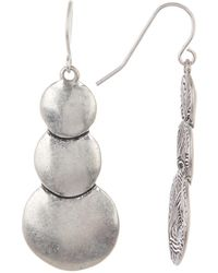 The Sak - Triple Layered Circle Drop Earrings - Lyst