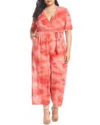 Glamorous - Tie Dye Jumpsuit (plus Size) - Lyst