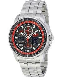 Citizen - Men's Red Arrows Skyhawk A-t Analog Quartz Bracelet Watch, 46.7mm - Lyst
