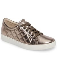 Ecco - Soft 7 Quilted Tie Sneaker - Lyst