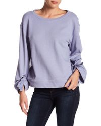 Splendid - Tie Sleeve French Terry Pullover Sweater - Lyst