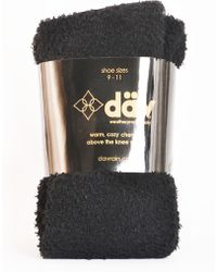 27fd94a1477 Dav - Chenille Cable Knit Over The Knee Socks - Lyst