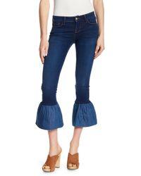 Genetic Denim - Crawford Contrast Flare Hem Jeans - Lyst