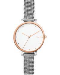 Skagen - Women's Hagen Mesh Bracelet Watch, 34mm - Lyst