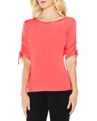 Vince Camuto - Ruched Elbow Sleeve Top - Lyst