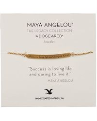 Dogeared - 14k Gold Vermeil Maya Angelou Success Is Loving Life Id Bar Bracelet - Lyst