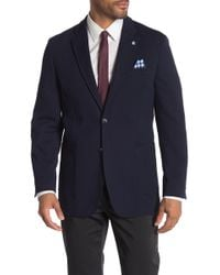 Ben Sherman - Navy Weave Textured Two Button Notch Lapel Sport Coat - Lyst