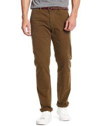 "Scotch & Soda - Slim Chino Trousers - 32"" Inseam - Lyst"