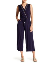 Spense - Embroidered Knit Jumpsuit - Lyst