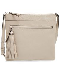 Halogen - Tasselled Leather Crossbody - Lyst
