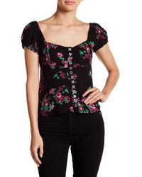Free People - Close To You Floral Blouse - Lyst