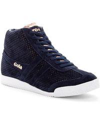 Gola | Harrier High Top Glimmer Suede Sneaker | Lyst