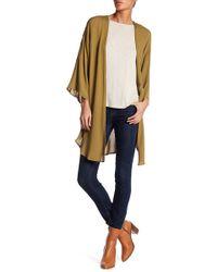 Bobeau - Side Slit Gauze Kimono - Lyst