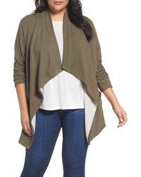 Caslon - Caslon Knit Drape Front Jacket - Lyst