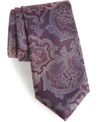 Calibrate - Ellerson Paisley Silk Tie - Lyst