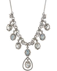 Marchesa - Crystal Statement Necklace - Lyst
