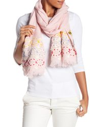 Tory Burch - Embellished Oblong Scarf - Lyst