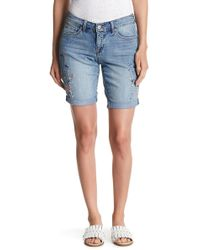 Vintage America - Embroidered Bermuda Shorts - Lyst