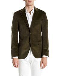 Spurr By Simon Spurr - Olive Green Two Button Notch Lapel Slim Fit Corduroy Sport Coat - Lyst