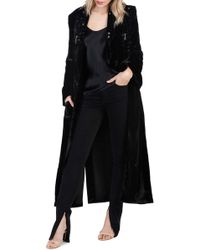 PAIGE - Rosie Hw X Rosanna Velvet Coat - Lyst