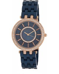 Anne Klein - Women's Swarovski Crystal Embellished Bracelet Watch, 34mm - Lyst