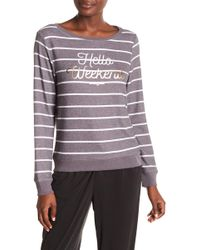 Betsey Johnson - Hello Weekend Striped Pullover - Lyst