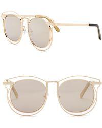 0edd855f739 Karen Walker - 54mm Superstar Simone Round Sunglasses - Lyst