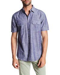 James Campbell - Chambray Short Sleeve Regular Fit Shirt - Lyst