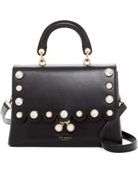 Ted Baker - Sylviaa Scalloped Leather Shoulder Bag - Lyst