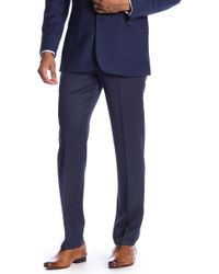 "Brooks Brothers - Blue Wool Classic Fit Trousers - 30-34"" Inseam - Lyst"