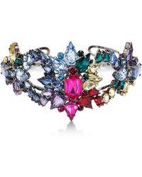 Steve Madden - Rhinestone Cluster Cuff Bracelet - Lyst