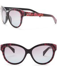 Just Cavalli - Floral Print Round 57mm Plastic Sunglasses - Lyst
