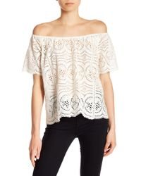 Joie - Hannela Lace Off-the-shoulder Tee - Lyst