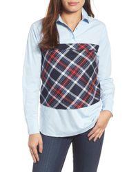 Pleione - Plaid Corset Shirt - Lyst