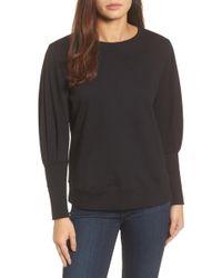 Halogen - Blouson Sleeve Sweatshirt - Lyst