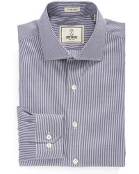 Todd Snyder - Stripe Trim Fit Dress Shirt - Lyst