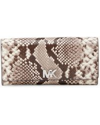 Michael Kors - Luxe Python Embossed Leather Carryall Wallet - Lyst