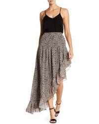 ARRIVE - Hi-low Sheer Ruffle Skirt - Lyst